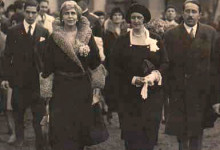 The Opening of the Horticulture Exhibition, December 7 1930. From left to right: Barbu Brezianu, Queen Marie of Romania, Queen Elisabeth of Greece, Virgil Madgearu.