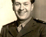 In his uniform, during World War II
