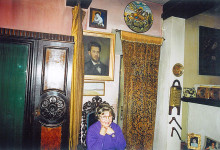 Gabriela Defour-Voiculescu, sitting in her father's armchair, March 22, 2002