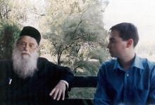 Cu Părintele Arhim. Mina Dobzeu, Huşi, 4 iulie 2002
