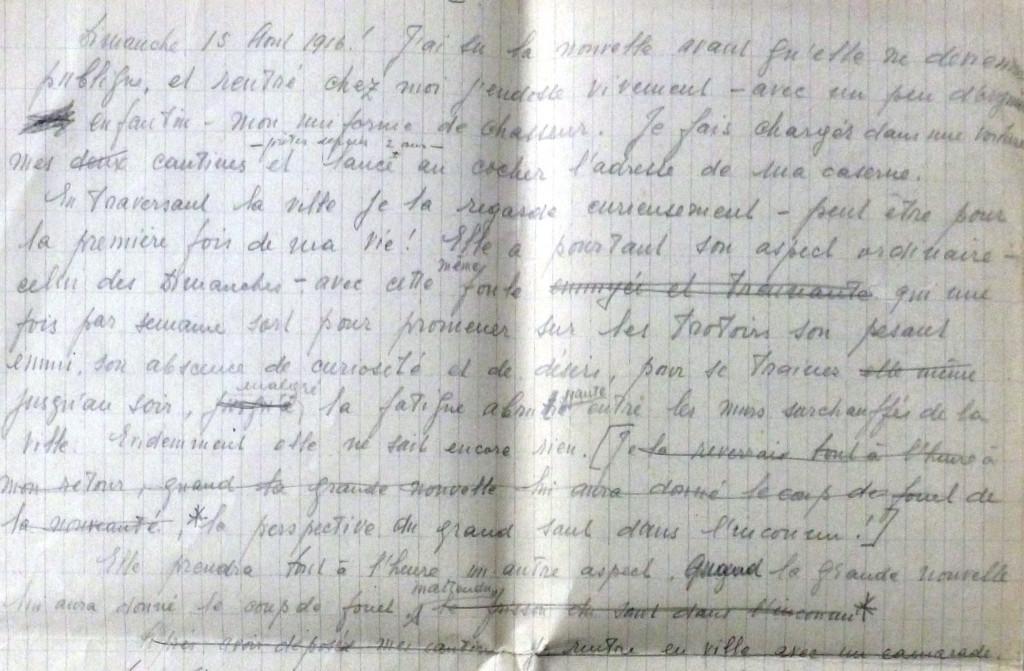 Fragment manuscris din jurnalul lui Grigore Romalo (Arhiva Dan Romalo)