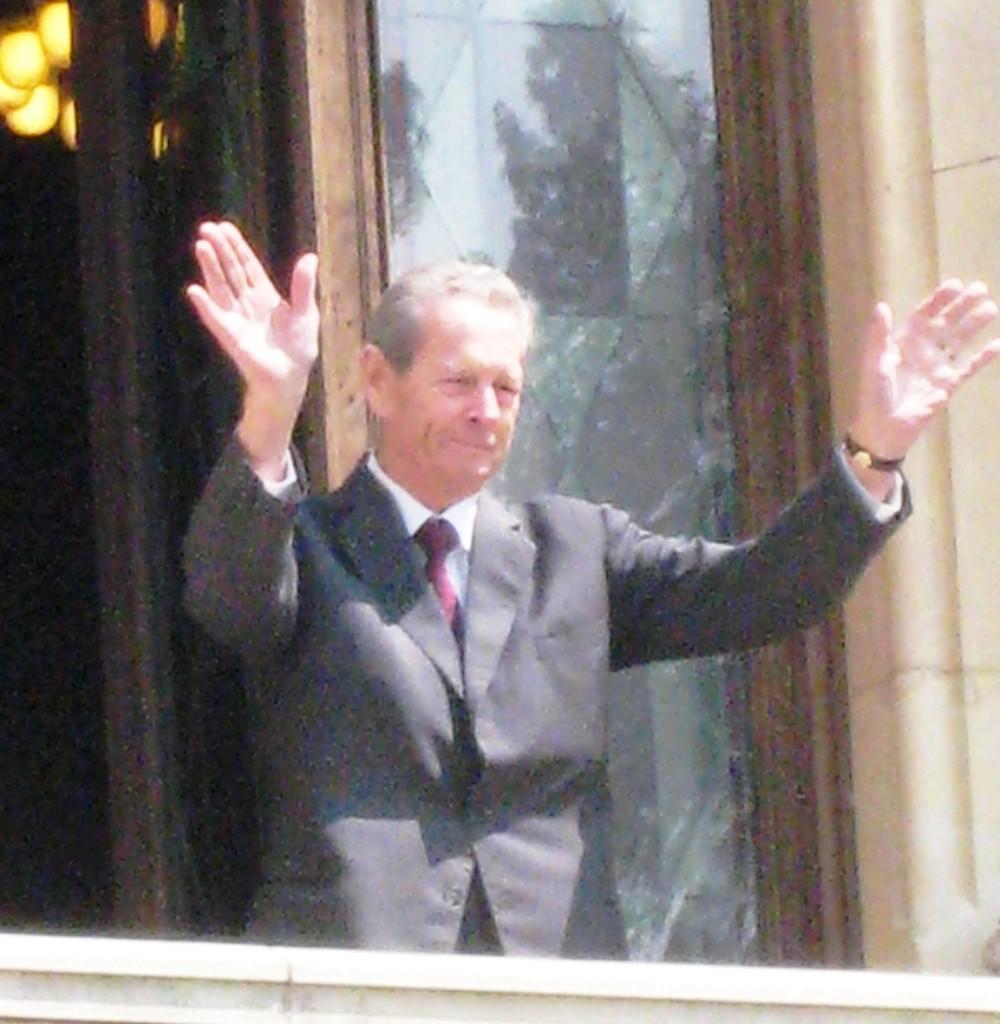 Revenirea istorica a Regelui Mihai la Castelul Peles, 5 iunie 2008.