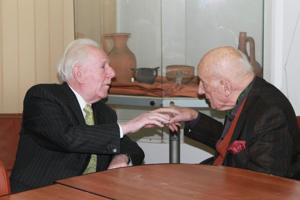 Jean Delumeau si Neagu Djuvara, Facultatea de Istorie a Universitatii din Bucuresti, 24 octombrie 2011. Foto: Stefan Gologaneanu.
